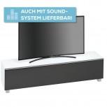 Lowboard SoundConcept mit Akustikstofffront Breite 180 cm