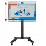 B-Tech Universeller Flachbildschirm Trolley mit einstellbarer Höhe BT8563-03