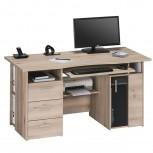 Computer- und Schreibtisch 4052 mit Rauchglas-Holztür