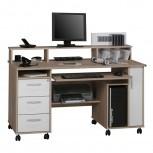 Computer- und Schreibtisch 9475 mit CD Leiste Sonoma-Eiche