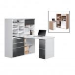 MiniOffice 9565 mit ABS-Kanten Schwarz/Weiß